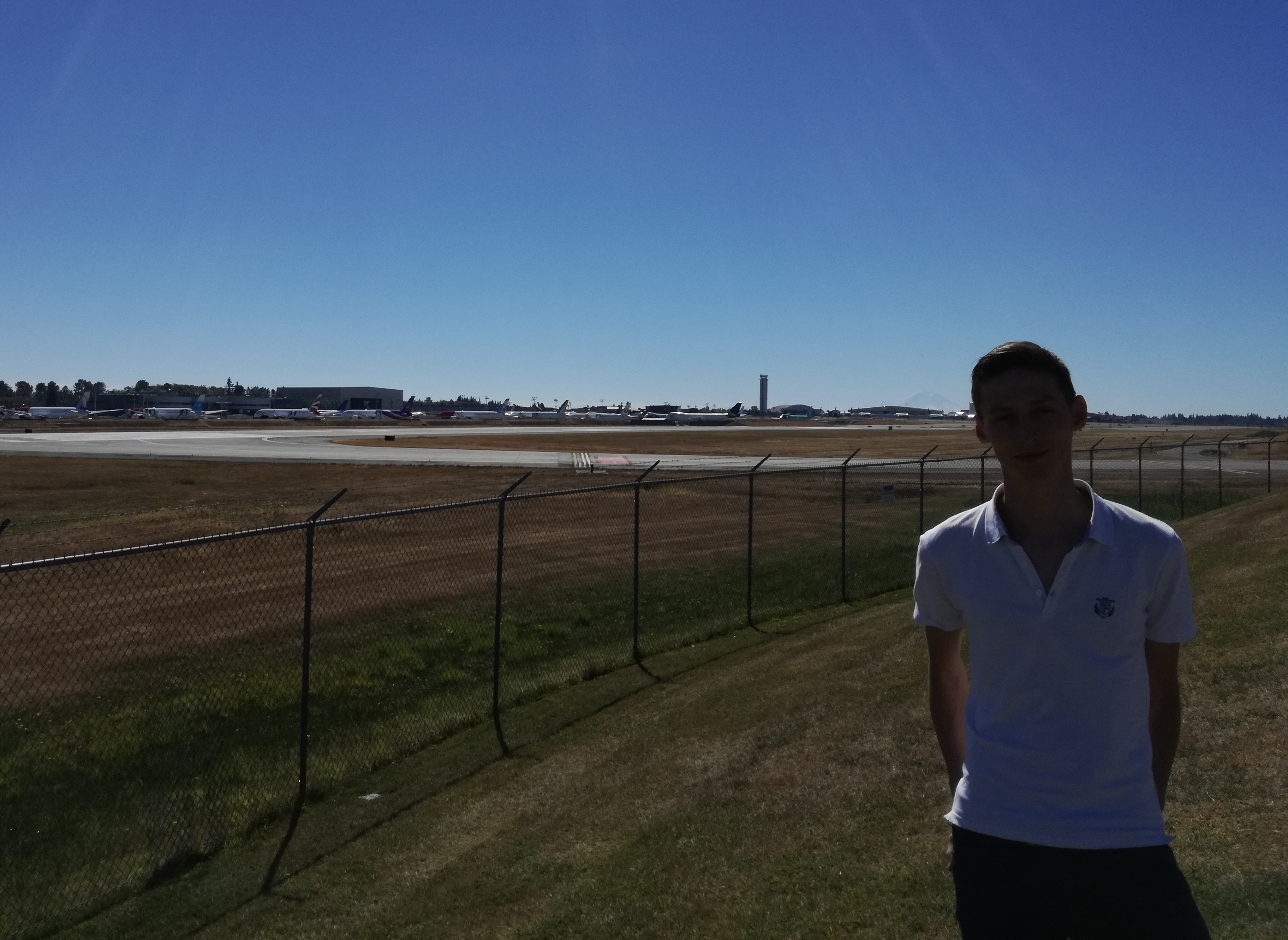 Picture of me with the Boeing factory in the background