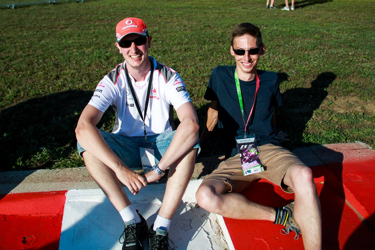 My friend Jan and I at Hungaroring