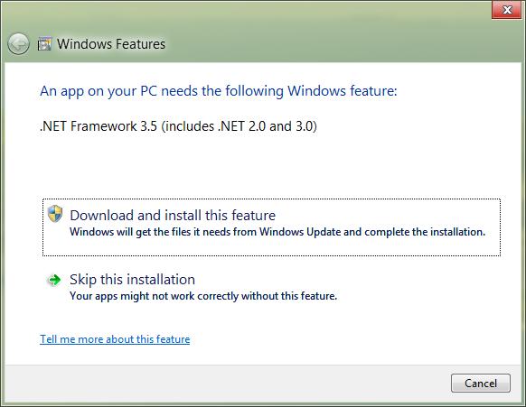 dotnet 2.0 installer
