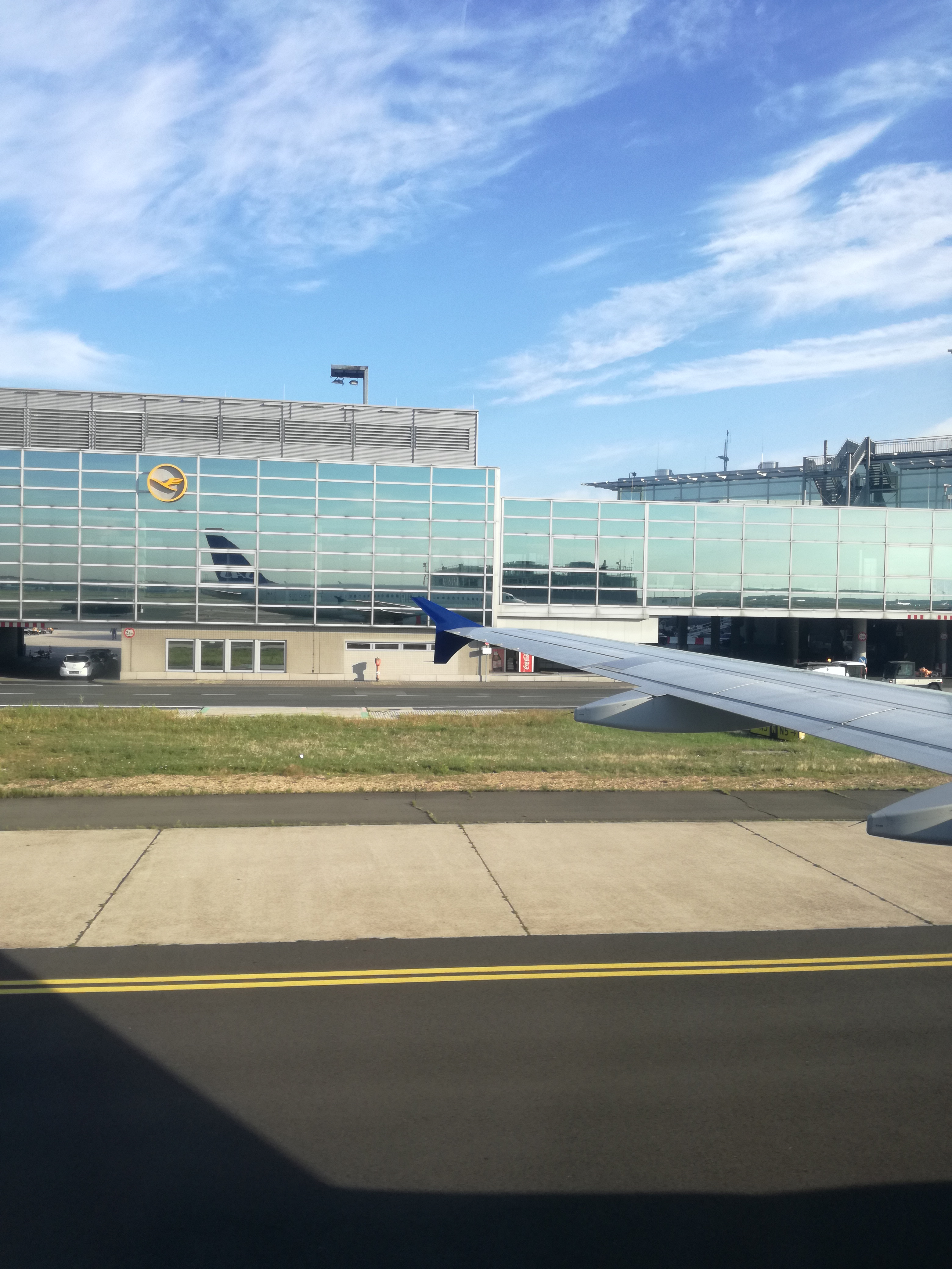 Picture of Lufthansa buildings in an Airport