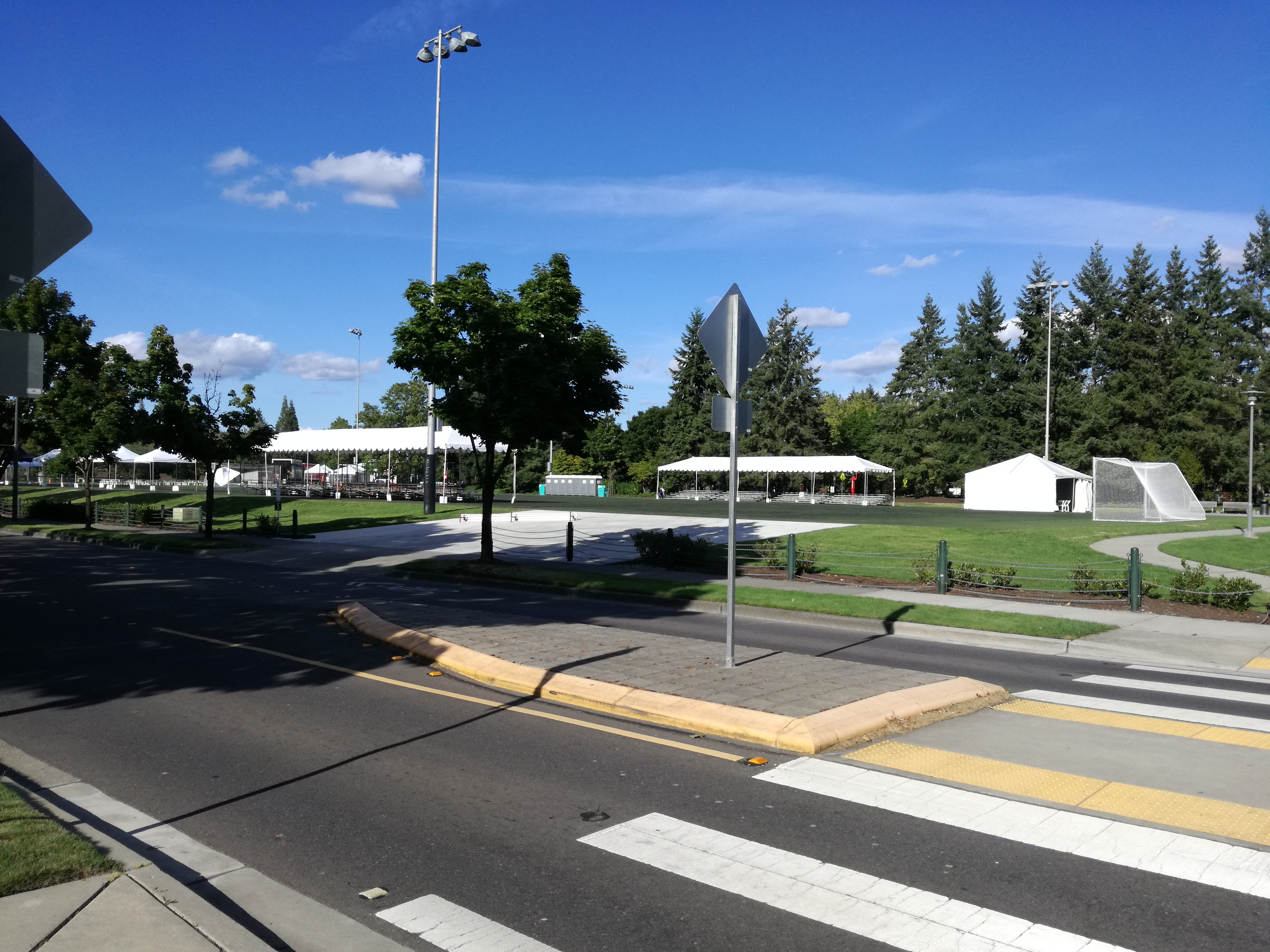 soccer fields area at the Microsoft Redmond Campus