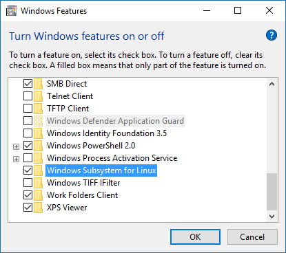 Installing the Windows Subsystem for Linux